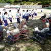 坂下中学校 体育祭練習の応援をしました!!