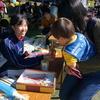 神坂中学校生徒会による赤い羽根共同募金 街頭募金
